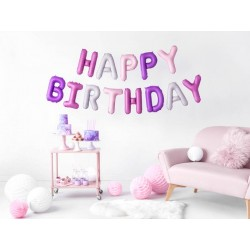Girlanda balonowa HAPPY BIRTHDAY mix kolorów 35x340 cm