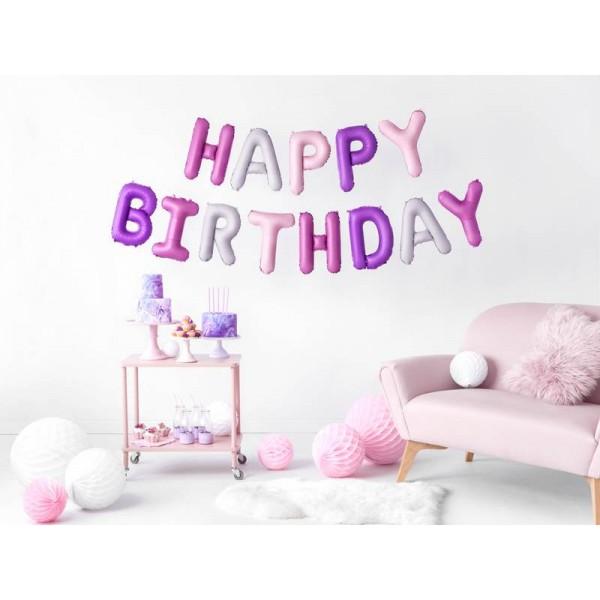 Girlanda balonowa HAPPY BIRTHDAY mix kolorów 35x340 cm