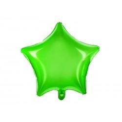 Balon foliowy Gwiazdka  zielony neonowy 48cm