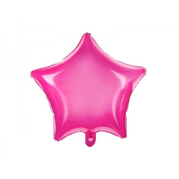 Balon foliowy Gwiazdka różowy neonowy 48cm