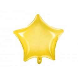 Balon foliowy Gwiazdka żółty neonowy 48cm