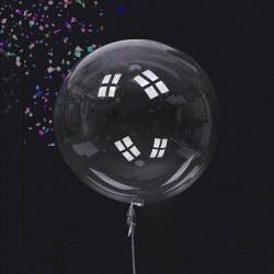 Balon Gigant pastelowy transparentny 1metr