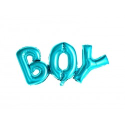 Balon foliowy BOY niebieski 67x29cm
