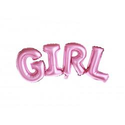 Balon foliowy GIRL różowy 74x33cm