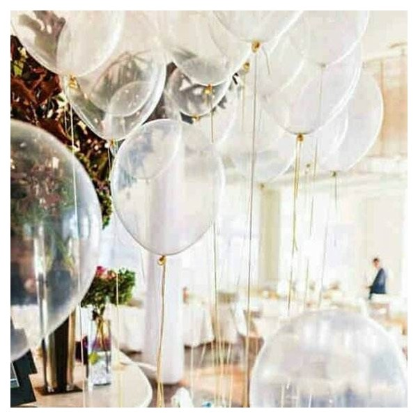 Balony transparentne 14cali 35cm 100szt
