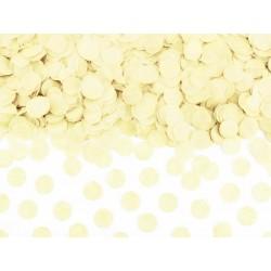 Konfetti papierowe kółka jasnokremowe 15g