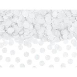 Konfetti papierowe kółka białe 15g