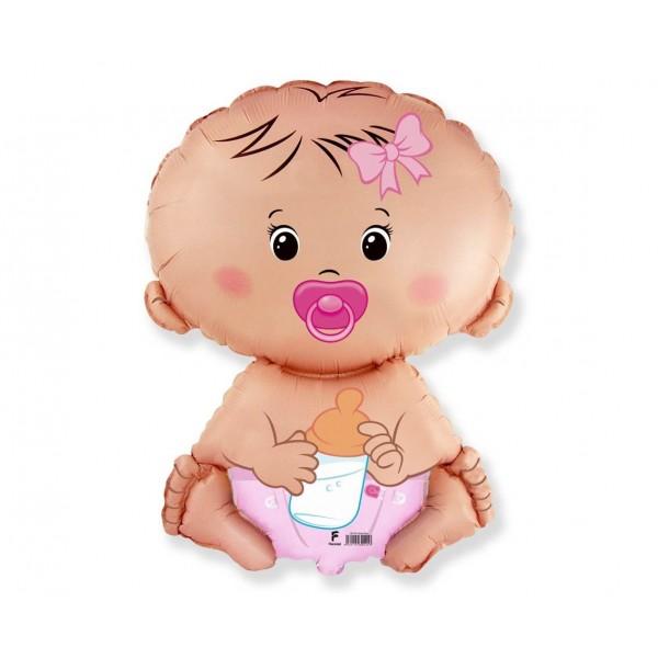Balon foliowy Bobas dziewczynka 46x66cm