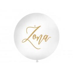Balon Gigant Żona biały 1metr