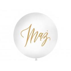 Balon Gigant z napisem Mąż biały 1metr