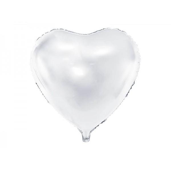 Balon foliowy serce 45cm biały