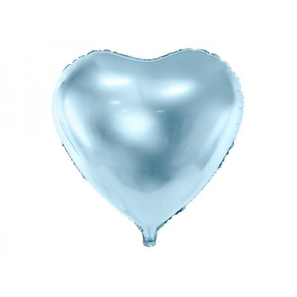 Balon foliowy serce 45cm błękitny