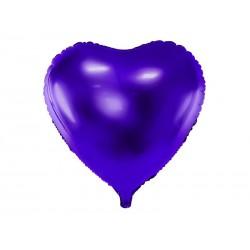 Balon foliowy serce 45cm fioletowy