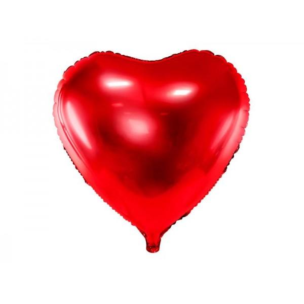 Balon foliowy Serce 61cm czerwony