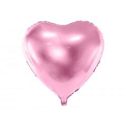 Balon foliowy serce jasnoróżowy 45cm