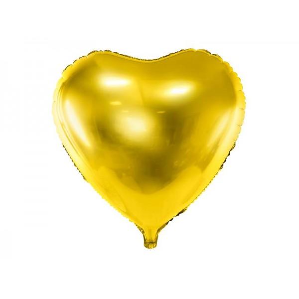 Balon foliowy serce złoty 45cm