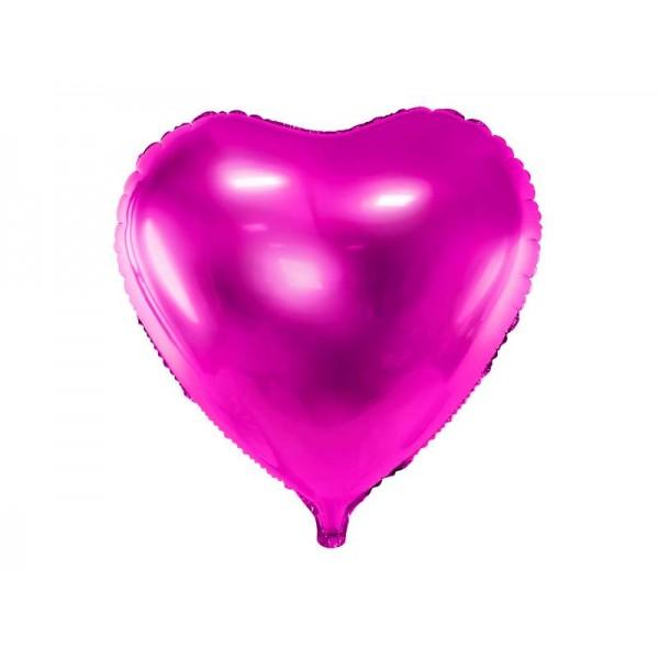 Balon foliowy serce ciemnoróżowy 45cm