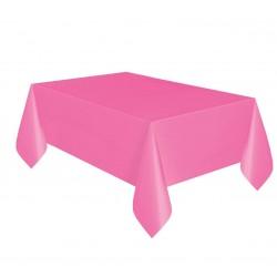 Obrus plastikowy różowy 137x274cm