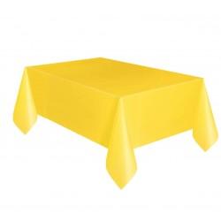 Obrus plastikowy żółty 137x274cm