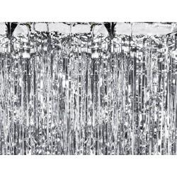 Kurtyna metalizowana srebrna 250x90cm