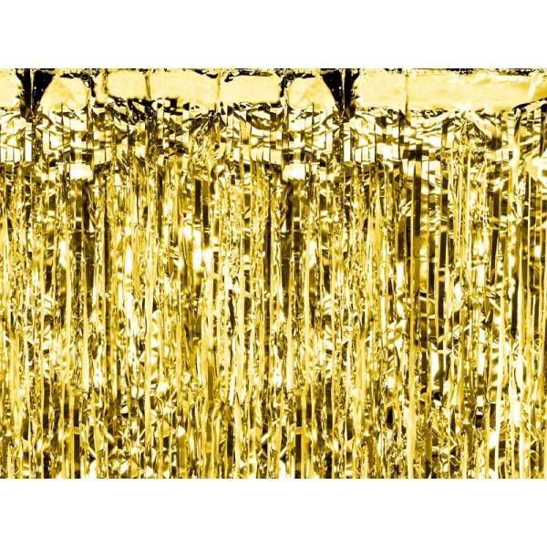 Kurtyna metalizowana złota 250x90cm