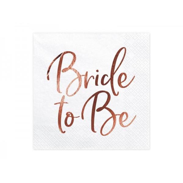 Serwetki papierowe Bride to be białe 33x33cm 20szt