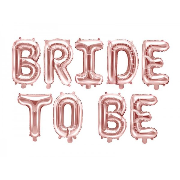 Girlanda balonowa metalizowana Bride to be rose gold 35x340cm