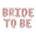 Girlanda balonowa metalizowana Bride to be rose gold 35cmx340cm