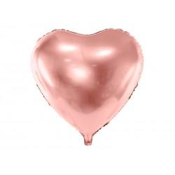 Balon foliowy serce rose gold 61cm