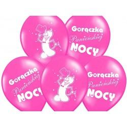 Balony pastelowe Gorączka Panieńskiej Nocy różowe12cali 30cm 5szt Strong