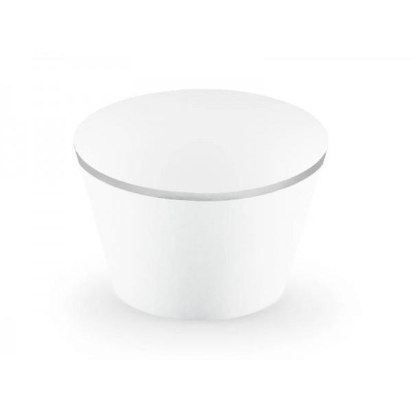 Foremki papierowe na muffinki białe 6szt