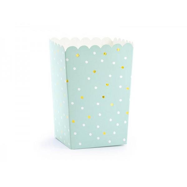 Pudełka na popcorn/słodycze mix kolorów 6szt