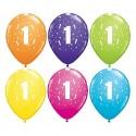 Balony pastelowe na 1 urodziny mix kolorów 11cali 28cm 6szt