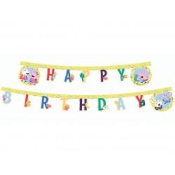 Baner Świnka Peppa - Happy Birthday 230cm
