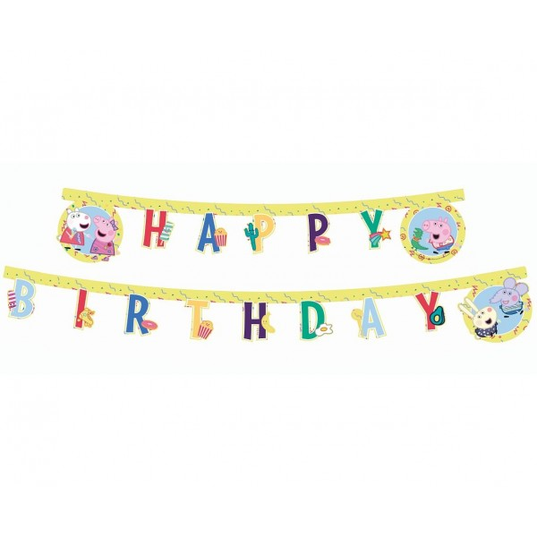 Baner Peppa Pig - Happy Birthday 230cm