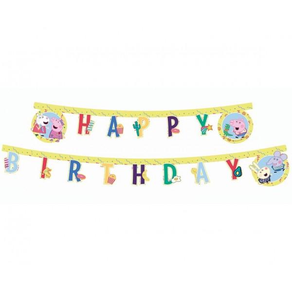 Banner Peppa Pig - Happy Birthday 230cm