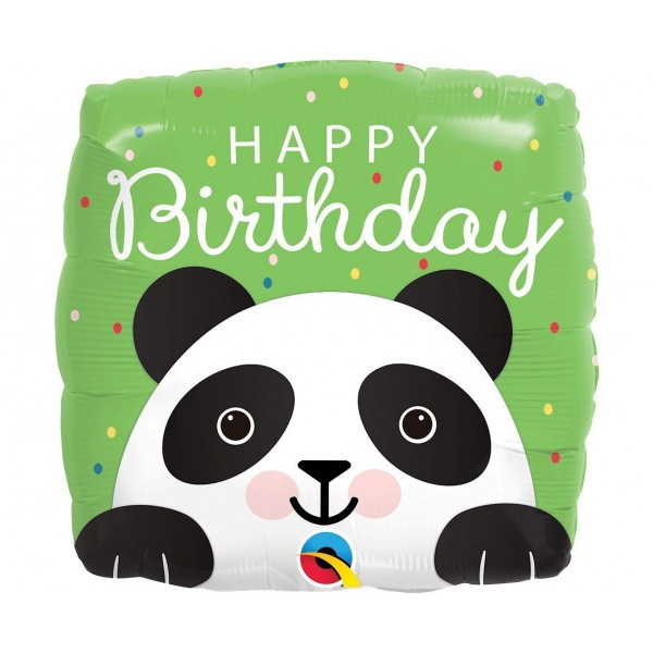 Balon foliowy Panda Happy Birthday 18cali 46cm