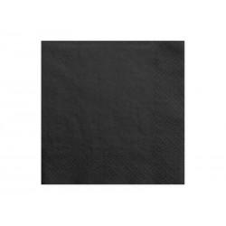 Serwetki papierowe czarne 33x33cm 20szt