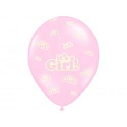 Balony pastelowe It's a Boy jasnoróżowe 12cali 30cm 5szt