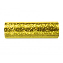 Serpentyny holograficzne złote 3,8m 18szt