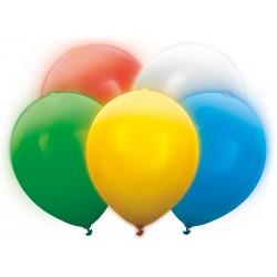 Balony ledowe świecące kolorowe 5szt