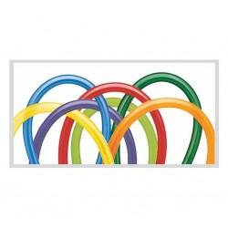 Balony kolorowe rurki do modelowania 140cm 100szt