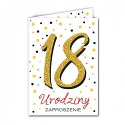 Zaproszenie na 18 urodziny białe 1szt