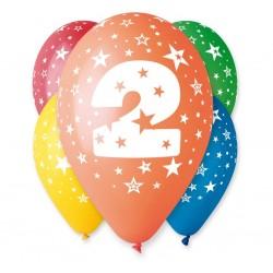 Balony na 2 urodziny 12cali 30cm 5szt