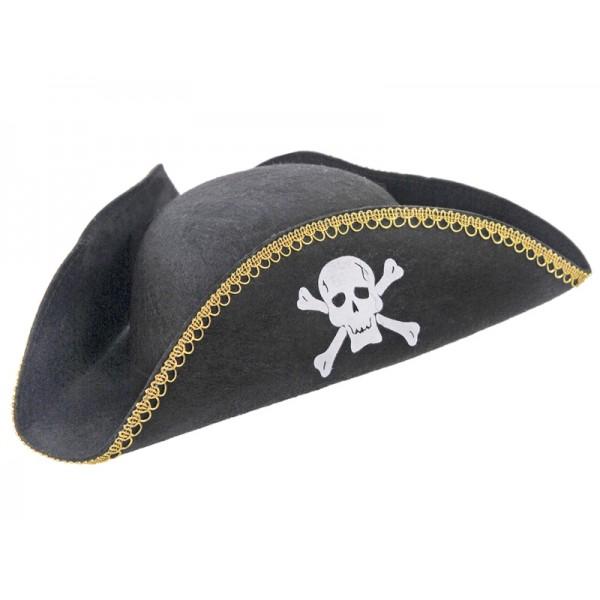 Czapka Pirata czarna 18x20cm
