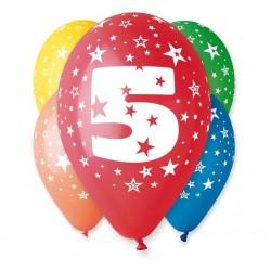 Balony na 5 urodziny 12cali 30cm 5szt