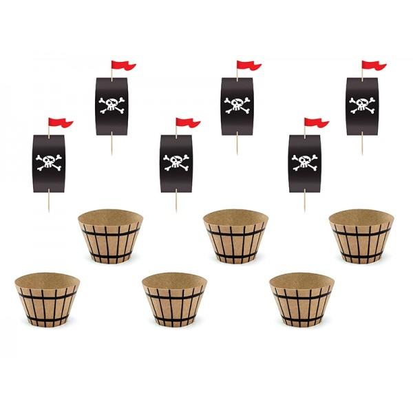 Zestaw do muffinek (6szt papilotek + 6szt pików)