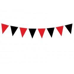 Girlanda flagietki czerwone i czarne 130cm