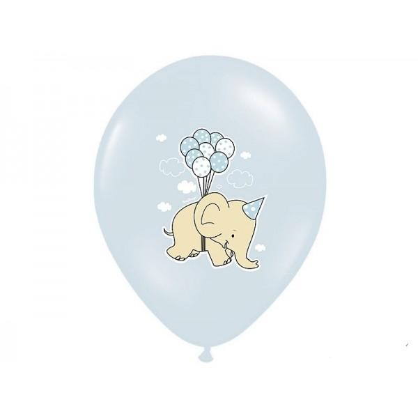 Balony pastelowe Słonik błękitne 12cali 30cm 5szt Strong