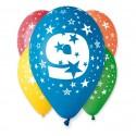 Balony na 9 urodziny 12cali 30cm 5szt